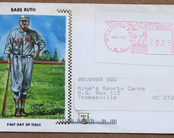 1991 Babe Ruth First Day of Issue Catche