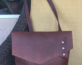 Leather Crossbody Messenger Bag