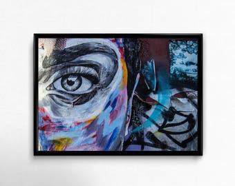 Street Art Print, London Shoreditch Wall Art, City Photography, Urban Photo, City Poster, Graffiti, Digital Download