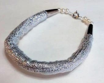 Shiny Silver-colored Bracelet