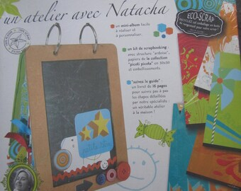 "a scrapbooking Kit with structure ""slate"" - a workshop with Natacha"