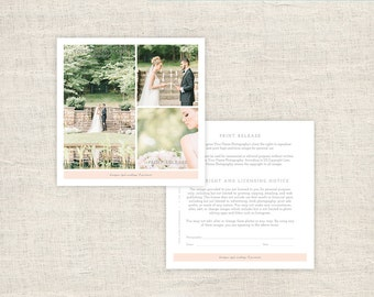 Print Release Photography Form - Photographer Print Release Template - Copyright Form for Wedding Photographers - INSTANT DOWNLOAD