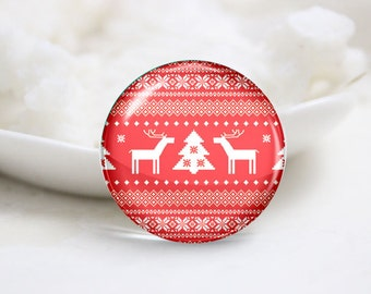 10mm 12mm 14mm 16mm 18mm 20mm 25mm 30mm Handmade Round Photo Glass Cabs Cover-Christmas (P2128)