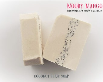 No15. Handmade 'COCONUT SLICE' Soap