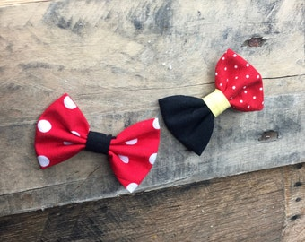 The Lillian - Our hair bows in Mickey and Minnie Colors
