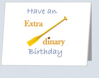 Rowing Card UK - An Extra-Oar-dinary Birthday rowers - Greeting cards with embellishment Birthdays card for boyfriend Card for girlfriend