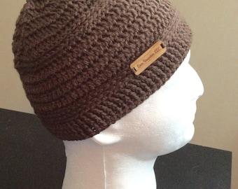 Brown Kufi, Crochet Khufi, Mens Beanie, Womens Slouch Beanie, Crocheted Beanie, Knit Beanie, Fall Apparel