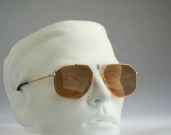 Rodier M151 322, Vintage aviator sunglasses, 80s mens & women rare and unique / NOS