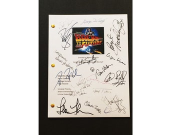 Back To The Future Movie Script Signed Rpt -  Stephen Spielberg, Michael J. Fox, Christopher Lloyd, Leah Thompson