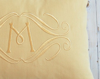 Monogram Pillow Cover - Custom Pillow - 12 x 16 - Decorative Pillow - Personalized Home Decor - Accent Pillow - Solid Pillow - Throw Pillow