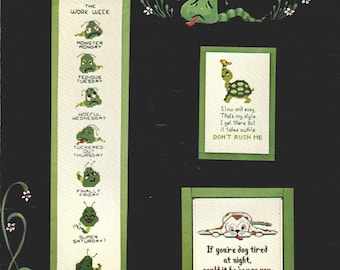 Tuckered Out Cross Stitch Designs by Harriette Tew 1980