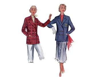 des années 50 double Breasted veste motif vintage 32-26,5-35 Tailored Jacket modèle veste de costume élégant classique mccalls 8699