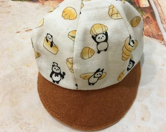 Outfit  A Panda bear on a brown skinny cap for Blythe