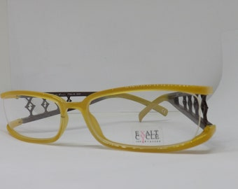Exalt cycle Exlucry frame made in Italy man woman early years 2000 glasses frame Brille New