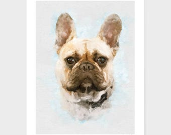 Custom pet portrait, Pet Portrait, Gift for Mom, Dog Mom, Gift for Girlfriend, pet memorial Gift Idea, Mother's Day, personalized gift