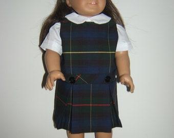 American Girl Doll inspired School Uniform plaid 55