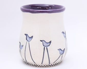 Walking Bird Pottery Cup, Ready to Ship, Handmade Cup