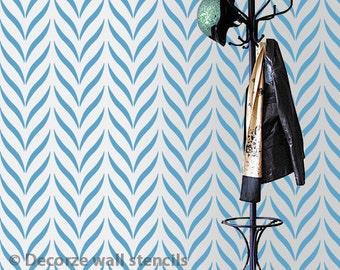 Allover Stencil, Reusable stencils for walls instead of wallpaper, Greater DIY wall stencil