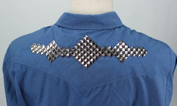 Punk Studded Western Shirt - Customized Vintage
