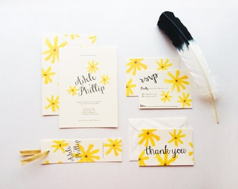 Flower Child Wedding Invites | Printable Wedding Invitation Template | INSTANT DOWNLOAD