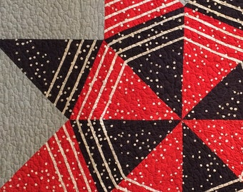 Big Star - Red and Black Quilt