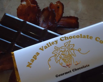Chocolate Bars, Dark Chocolate, Bacon, Chocolate Bacon, Dark Chocolate Bars, Bacon Chocolate, Chocolate Gifts, Gifts for Him, Wedding Favors