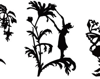 Fairies with flowers Vinyl Wall Art Decal