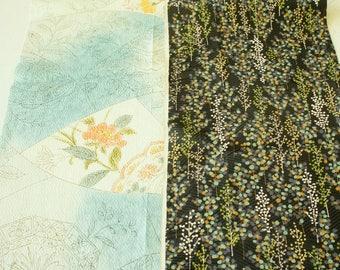 Vintage Japanese Silk Kimono Fabric | Patchwork Lot 119