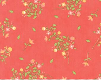 SUNDROPS, Corey Yoder, Moda Fabrics, 29011-27, Dark Coral Floral, Sundrops fabric, Sundrops Collection, Little Miss Shabby