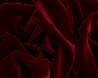 SALE 20% Burgundy Velvet Fabric, Dress Stretch velvet, Commercial Curtain Fabric, Fashion Velvet, Upholstery Decorative Fabric DVB08