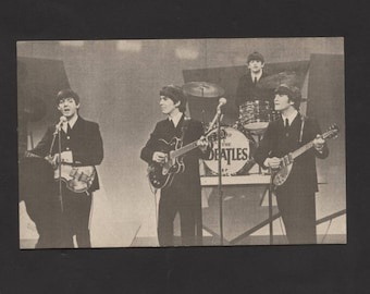 Vintage 1964 Beatles Post Card Never Used Rare Find See Pic