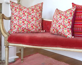 """Pillow Cover with Liberty of London Fabric 20"""" x 20"""""""