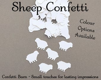 Sheep Confetti, Decorative Party Confetti, Baby Shower Confetti, Baptism Decor, Party Table Embellishments