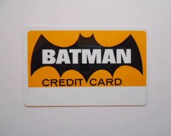 Batman credit card from 1966