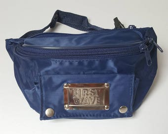 1990s Navy Blue Nylon First Wave Bumbag