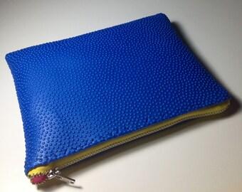 Ultra Mini SAPPHIRE + YELLOW + MAGENTA Color Block Textured Foam Clutch