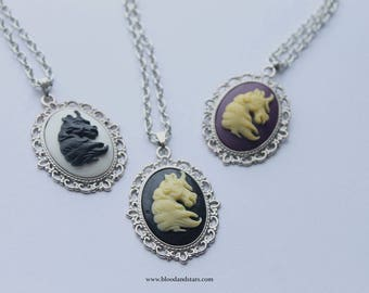 Small Unicorn Cameo Necklace