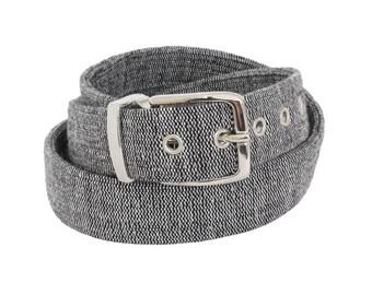 Black Vegan Belt - Organic Fair Trade / cruelty free belts, vegan accessories, belt for men, women belts, fabric belt, vegan gift for him