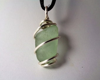 Authentic Beach Glass Necklace - Wave Tumbled Beach Glass