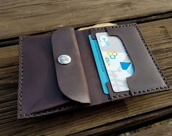 Minimal wallet, thin leather wallet, slim wallet, slim leather wallet, mens wallet ,men's leather wallet, leather wallet, handmade wallet