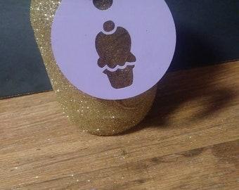 Ice cream cone gift tag