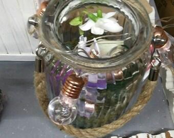 Fairy and Flower Jar