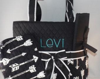 Monogrammed Arrow diaper bag, Personalized Arrow diaper bag, Arrow diaper bag, Monogrammed diaper bags, personalized diaper bags, diaper bag