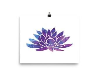 Blue Lotus Flower Poster