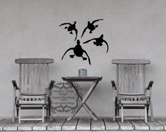 Birds Landing Your Choice Of 1 Vinyl Decal