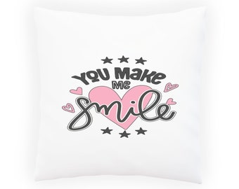 You Make Me Smile Pillow Cushion Cover p586p