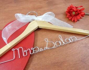 Bridal Hangers - Wedding Coat Hanger - Custom Bride Hanger - Bride Name Hanger - Custom Wedding - Engagement Gift - Clothes Hanger - Wedding