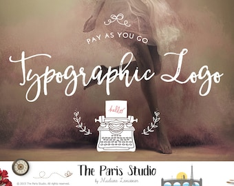 Typographic logo design minimalist logo ampersand logo photography logo website logo blog logo watermark logo business logo typographic logo