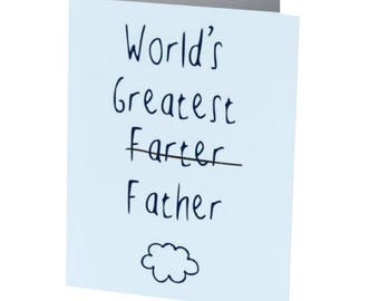 WORLDS GREATEST FARTER   Father's Day Card