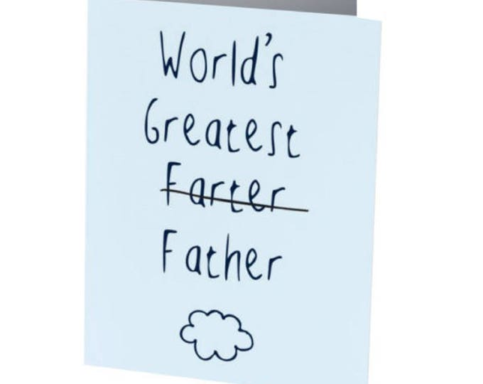Featured listing image: WORLDS GREATEST FARTER   Father's Day Card